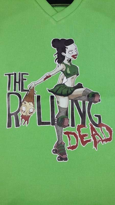 the rolling dead screen printing