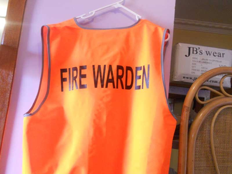 fire warden screen printing