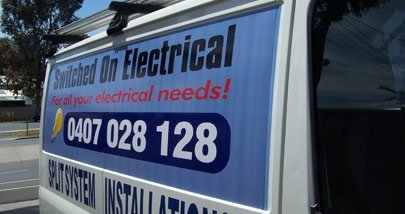 switched on electrical van signage