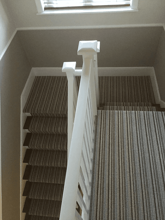newly installed carpet for stairs