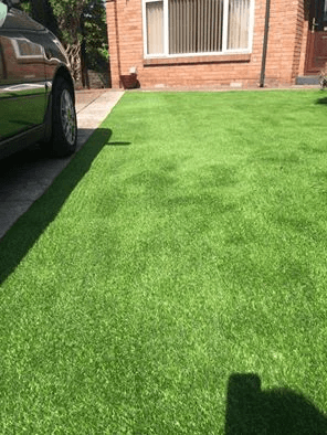 after laying of artificial turf