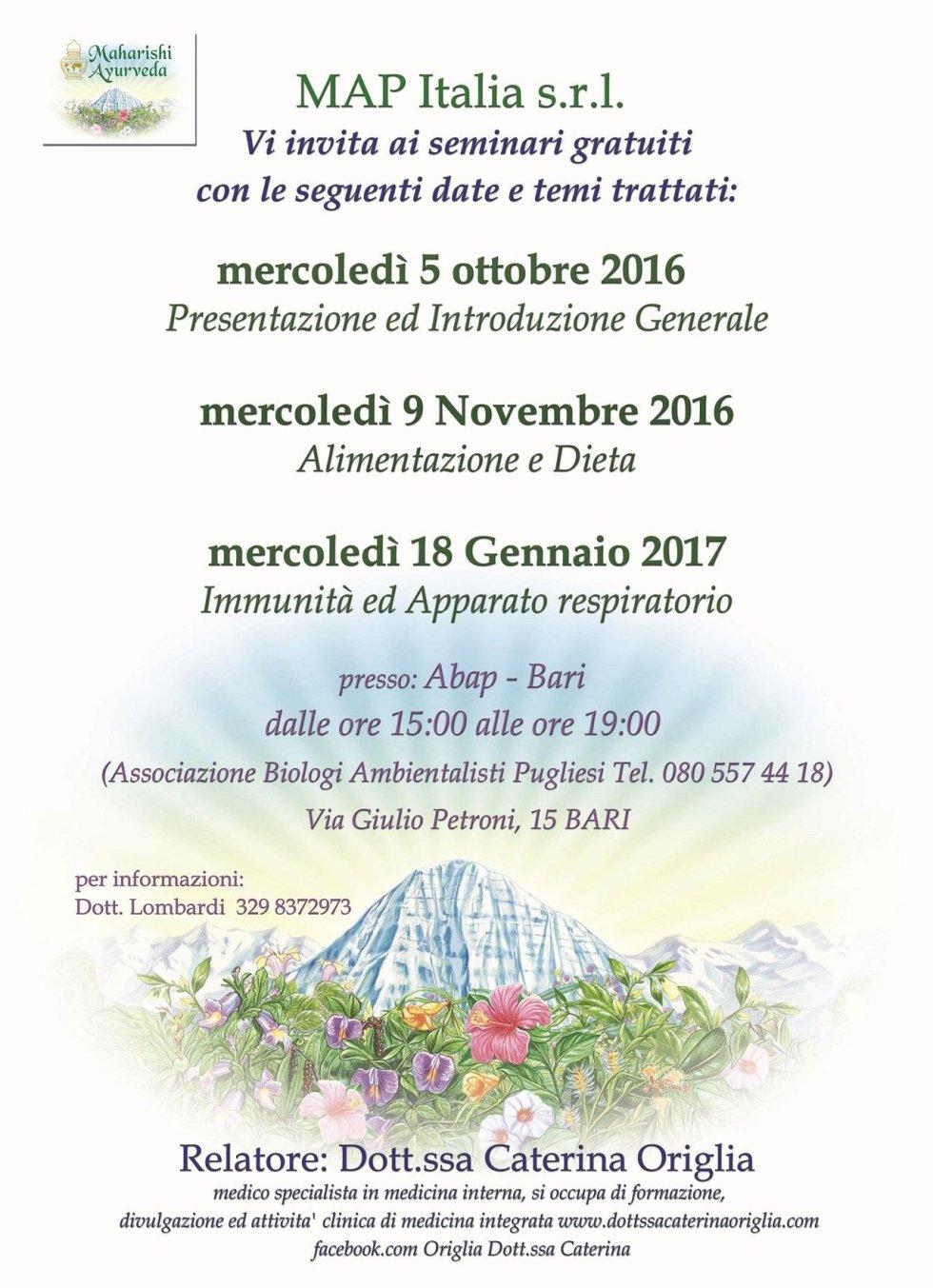 Seminari gratuiti 2016/2017