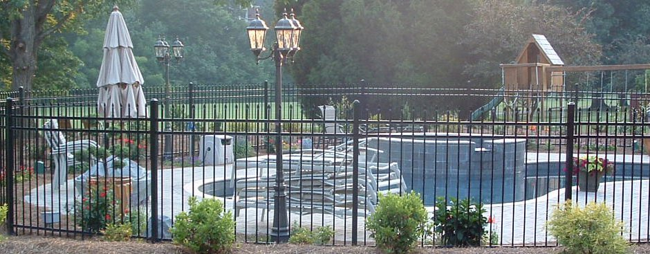 steel and aluminum fencing in a variety of styles