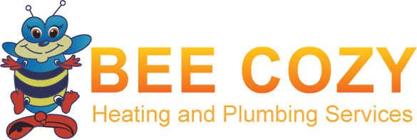 Bee cozy heating and plumbing services logo