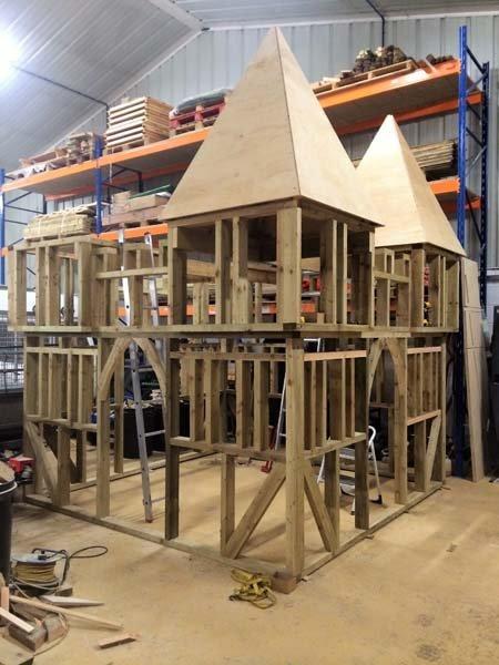 castle wooden structure