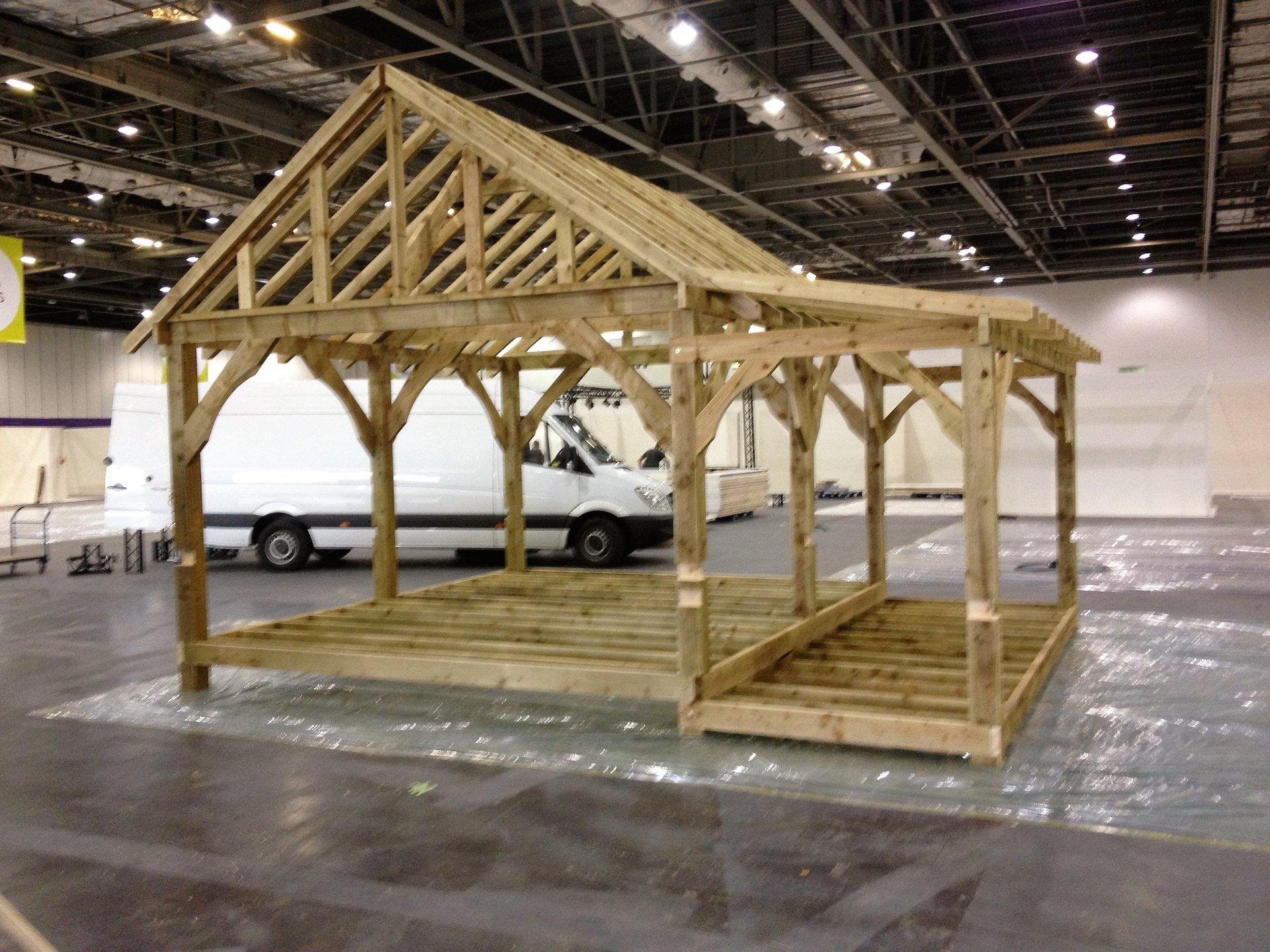 wooden structural frame