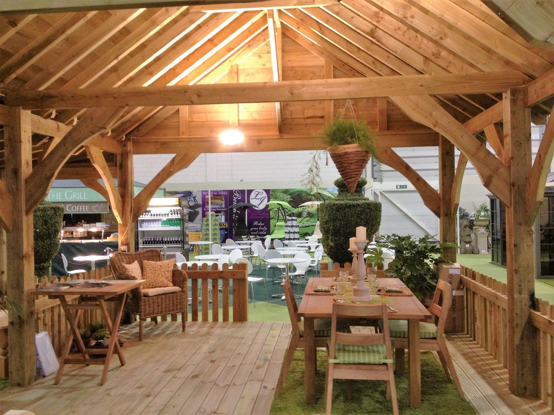 wooden outdoor setup