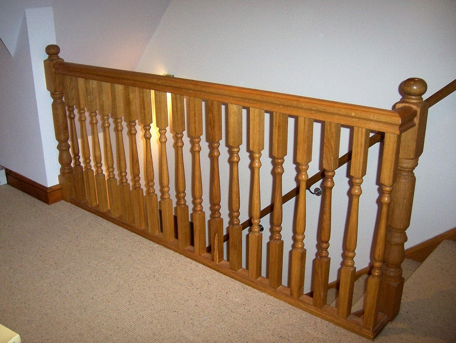 wooden railing