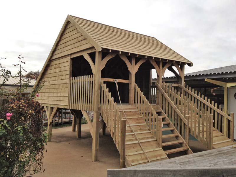 wooden frame structure