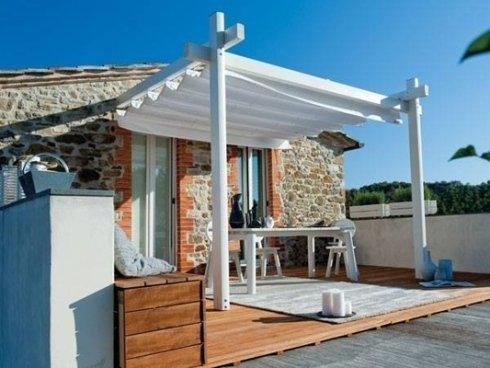Piccola tettoia per ingresso