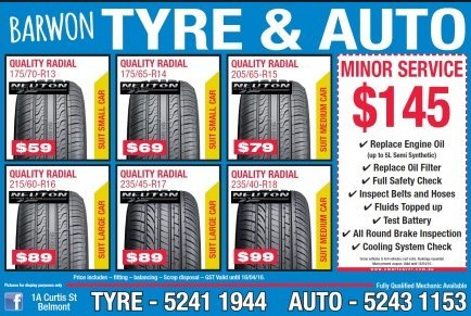 barwon tyre and auto centre advertisement