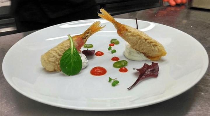 Piatto elaborato di pesce a Botrugno