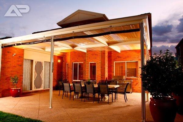 patio with dim lighting