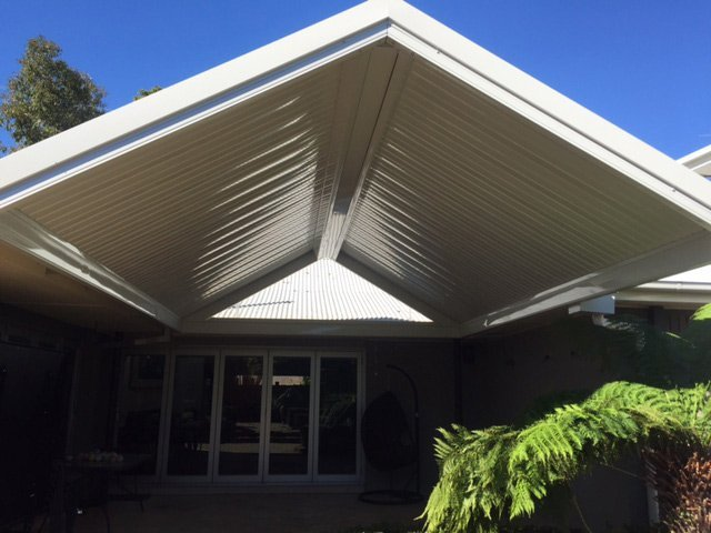 silver patio roof