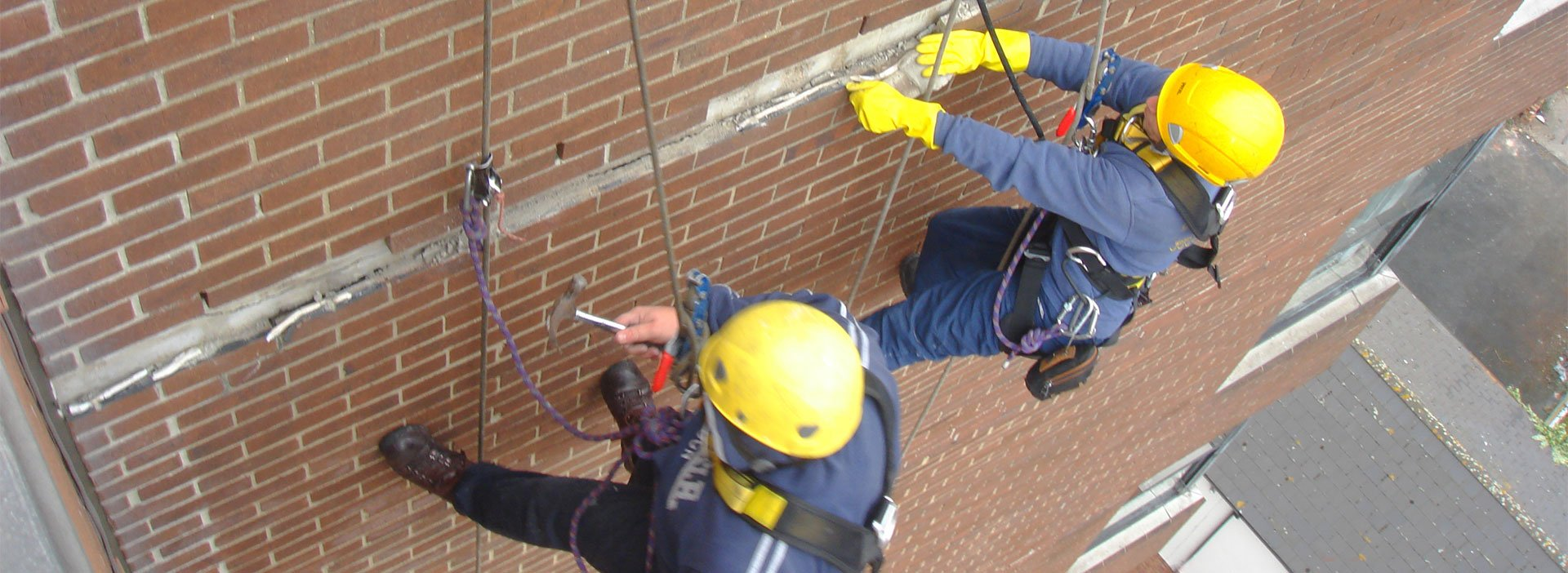 Abseiling work