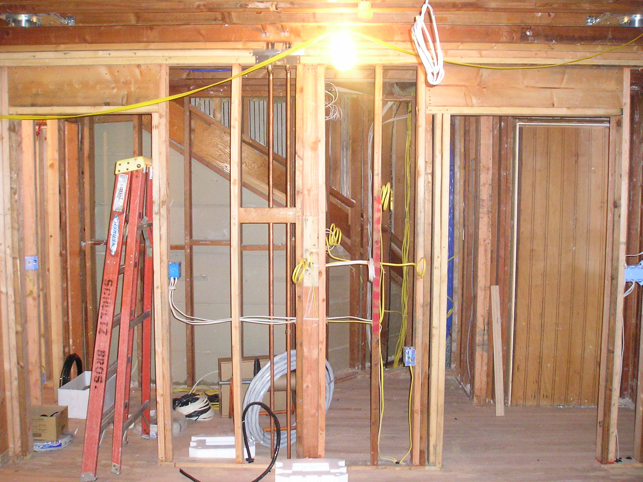 New home construction electrical wiring
