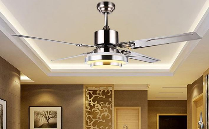 ceiling fan hanging in a room