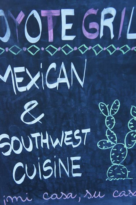 Coyote Grill Mexican & Southwest Cusine on the Board