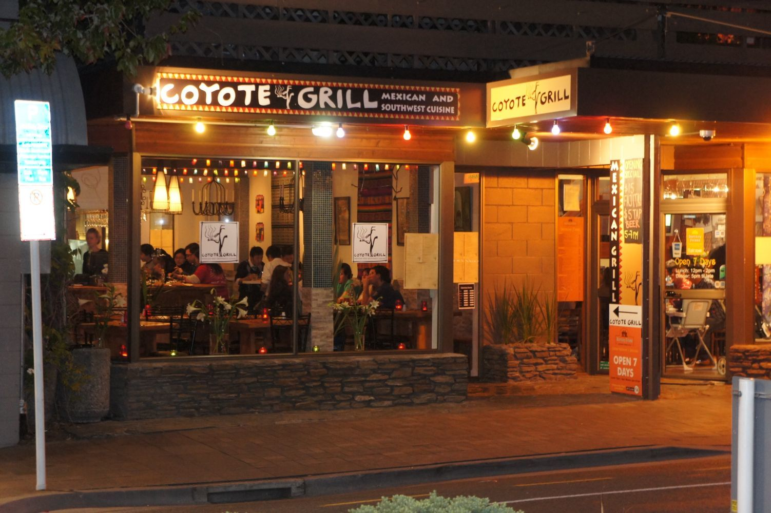 Front View of Coyote Grill