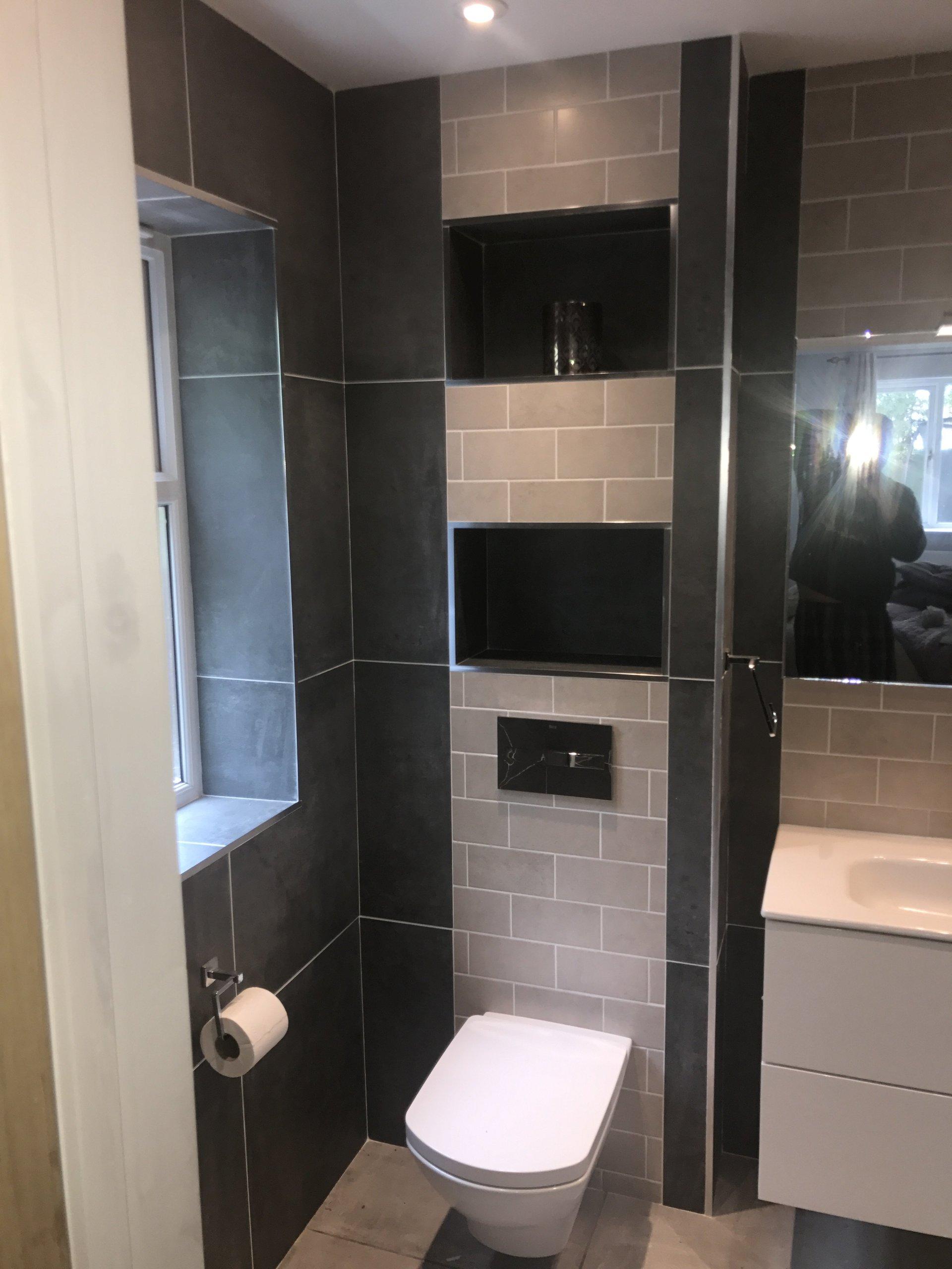WC inside the bathroom