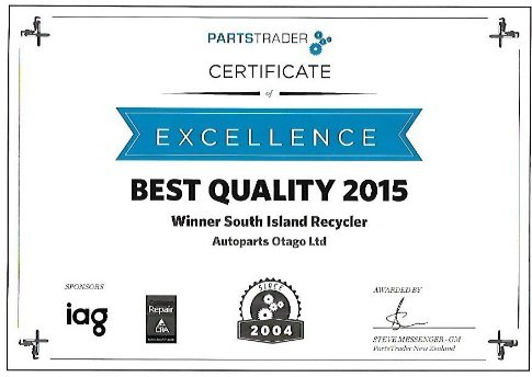 Best quality 2015 certificate