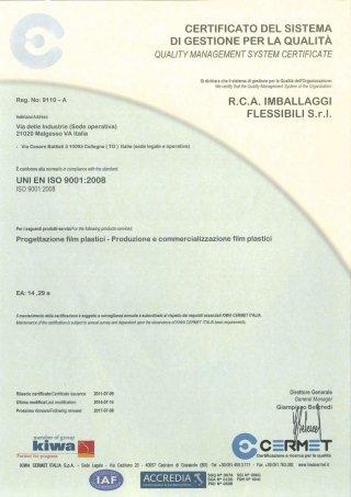 certificato ISO