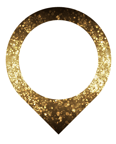 golden pin icon
