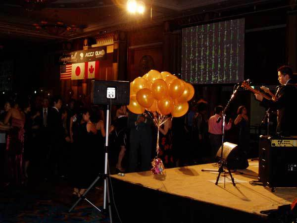 View from the stage at 1st annual Champagne Ball