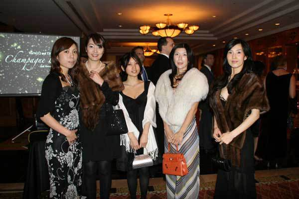 Guests arriving at 2nd annual Champagne Ball in Nagoya
