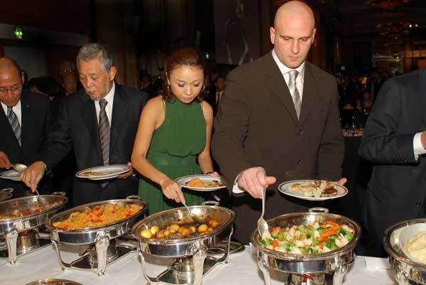 Great food at the 2008 Champagne Ball