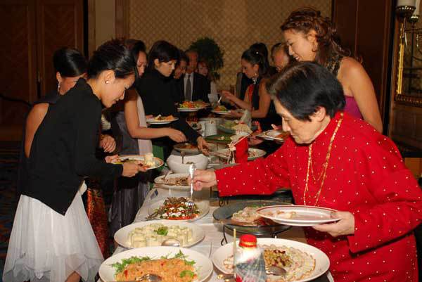 Sumptuous Buffet at the Champagne Ball