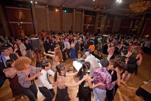 Conga Line at 2011 Champagne Ball