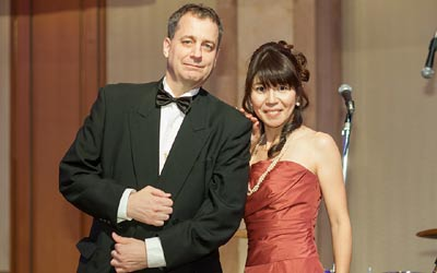 Champagne Ball emcees