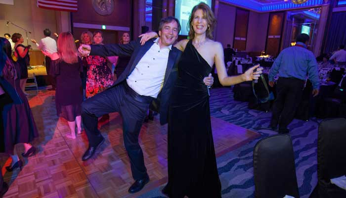 Letting loose at the Champagne Ball