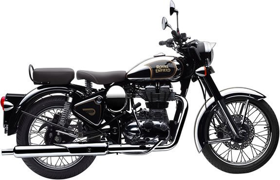 Royal Enfield Classic Chrome - Black
