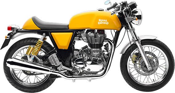 Royal Enfield Continental GT - Yellow