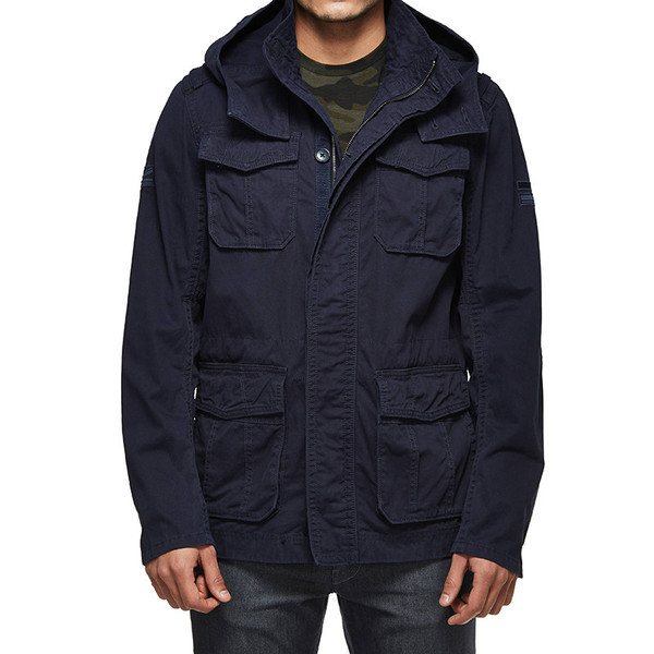 oyal Enfield Despatch Commander Field Jacket Navy
