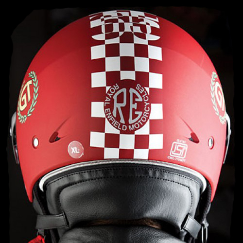 Royal Enfield Continental GT Helmet Chequered Matt Red