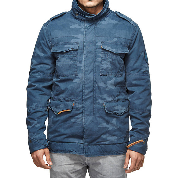 Royal Enfield Classic Field Camo Jacket Blue