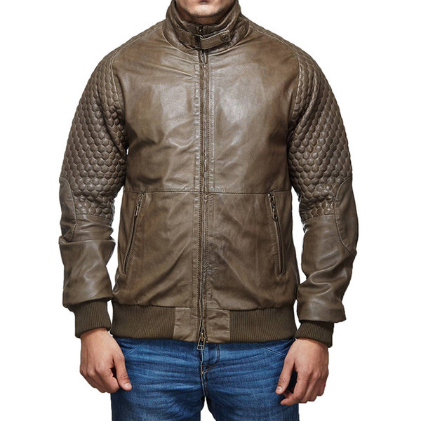 Royal Enfield Classic Moto Leather Jacket Olive