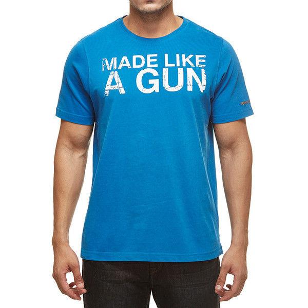 Royal Enfield Gun T-Shirt With Vintage Logo Blue