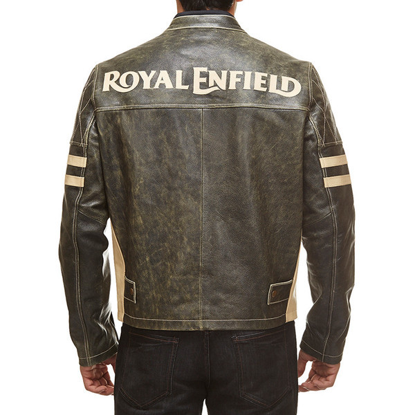 l Enfield Antique Leather Jacket Black