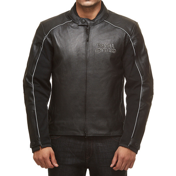 Royal Enfield Leather Riding Jacket Black