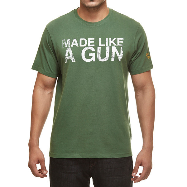 Royal Enfield Gun T-Shirt With Vintage Logo Green