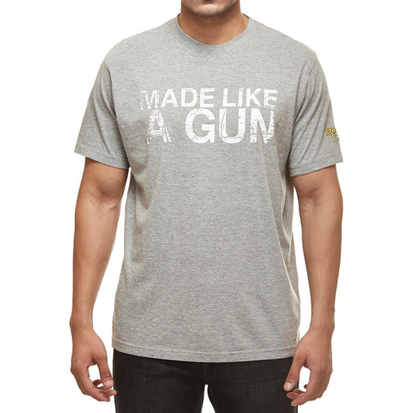Royal Enfield Gun T-Shirt With Vintage Logo Grey