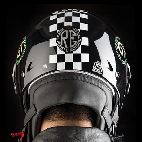 Royal Enfield Continental GT Helmet Chequered Gloss Black