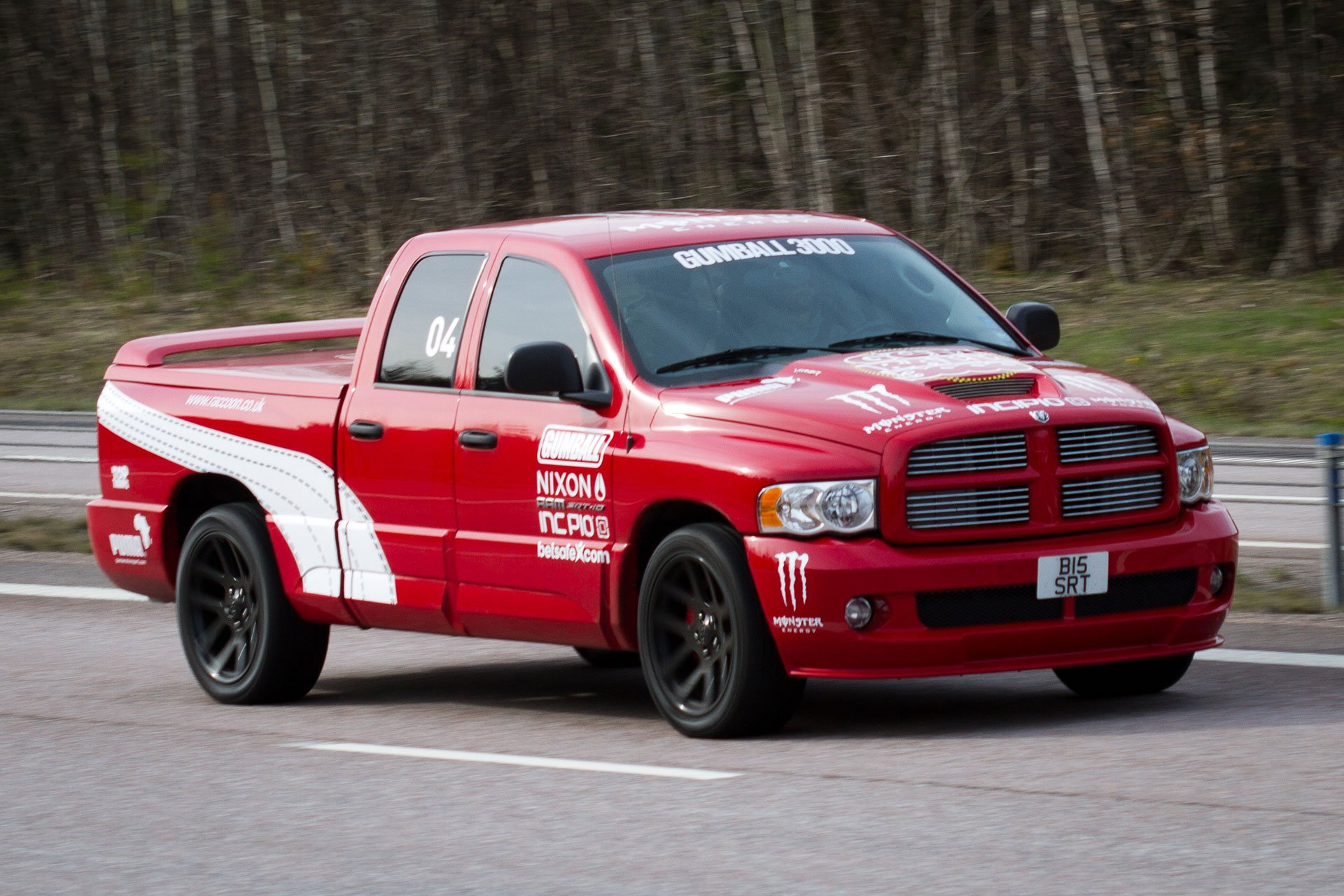 red race truck
