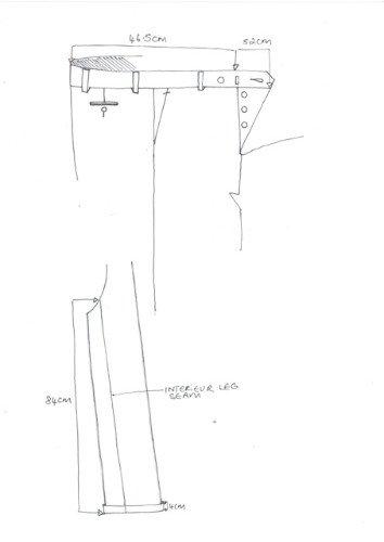 il disegno di un pantalone