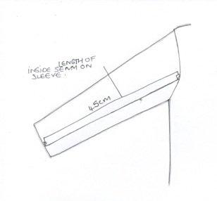il disegno di una manica di una giacca