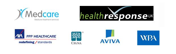 AVIVA AXA Medcare logos